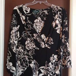 Black and White flowered dress